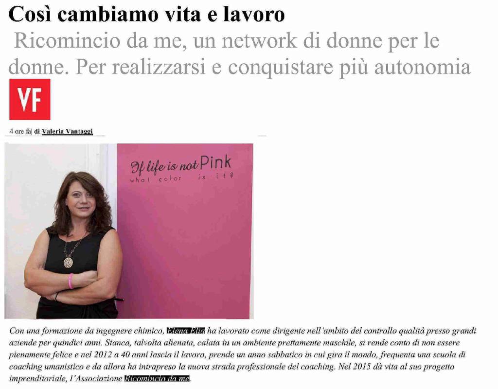 """[themify_icon icon=""""fa-file-pdf-o"""" link=""""http://elisavoila.com/wp-content/uploads/2015/12/Vanityfair.it_28-giugno-2015.pdf"""" style=""""large"""" ] 28 giugno 2015. Vanity Fair. """"Così cambiamo vita e lavoro: Ricomincio da me, un network di donne  per le donne. Per realizzare e conquistare più autonomia."""" di Valeria Vantaggi."""